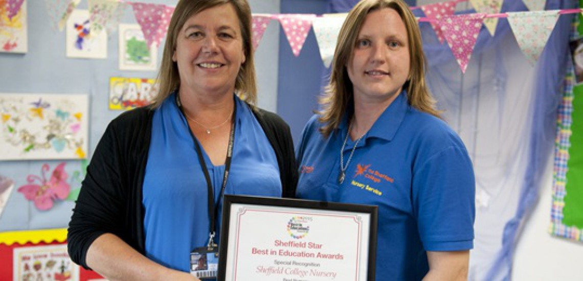 Sheffield College Nursery Receives Special Commendation