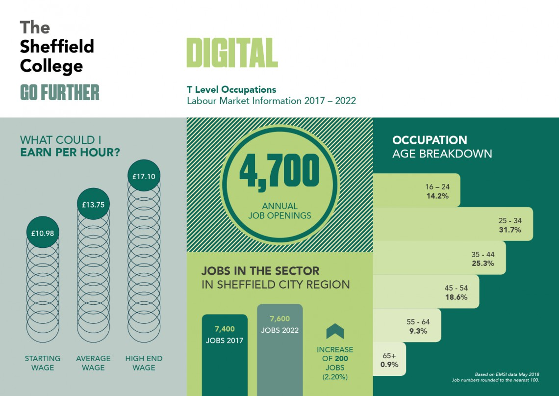 Career statistics for the digital sector