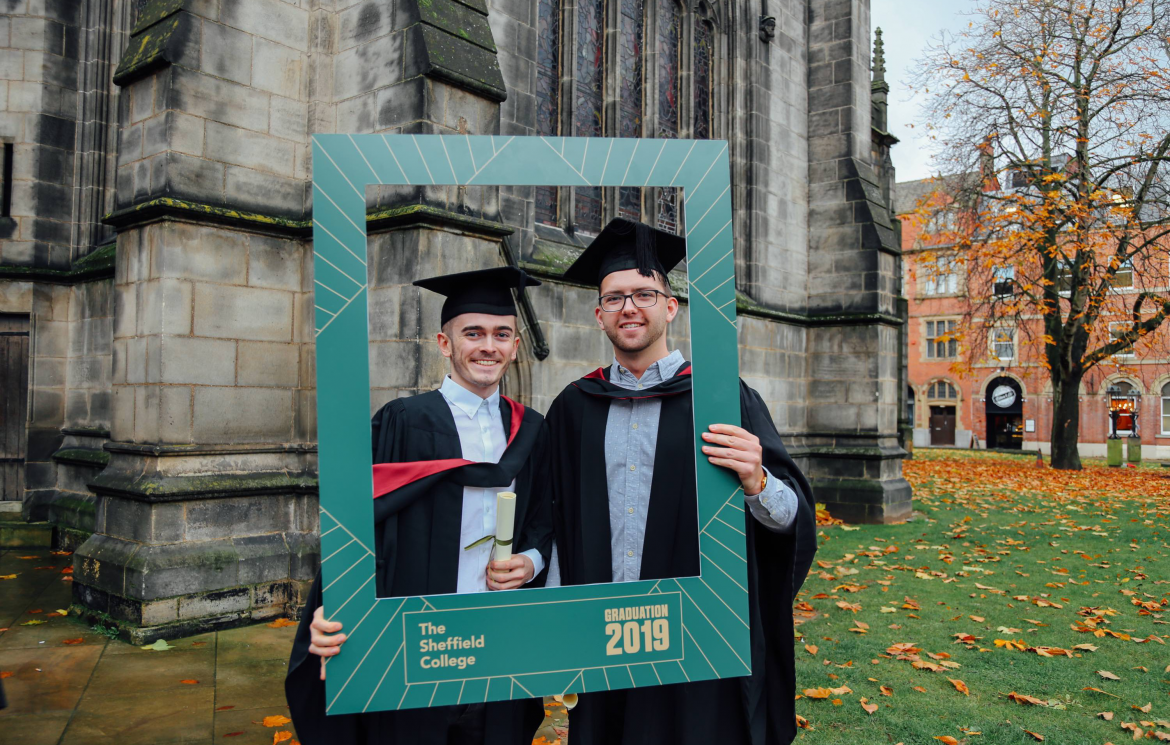 Sheffield College alumni celebrate with graduates on their degree success