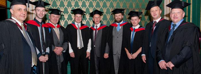 Sheffield College Degree Students Graduate