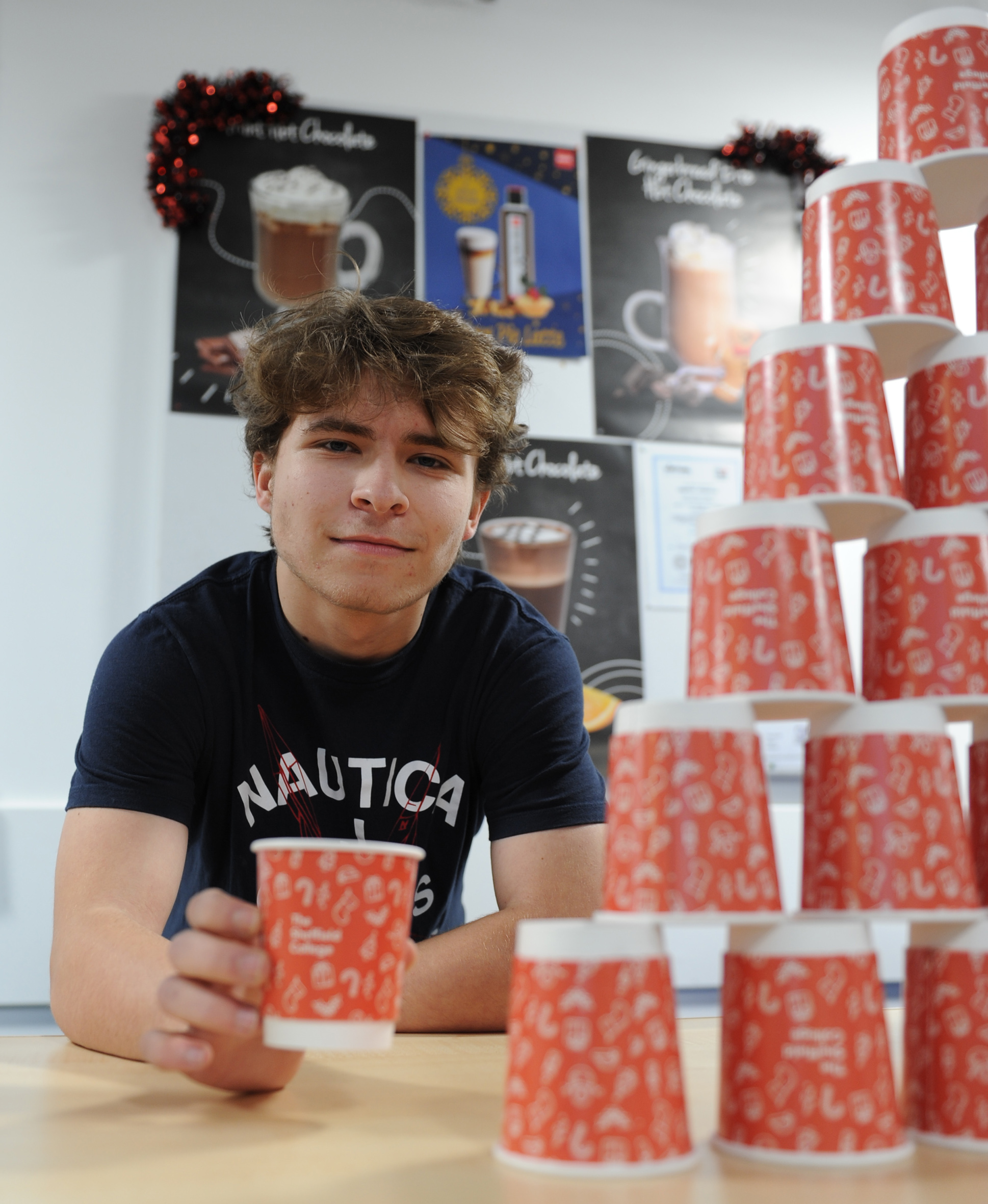 Student's Christmas Cup Design Brings Festive Cheer