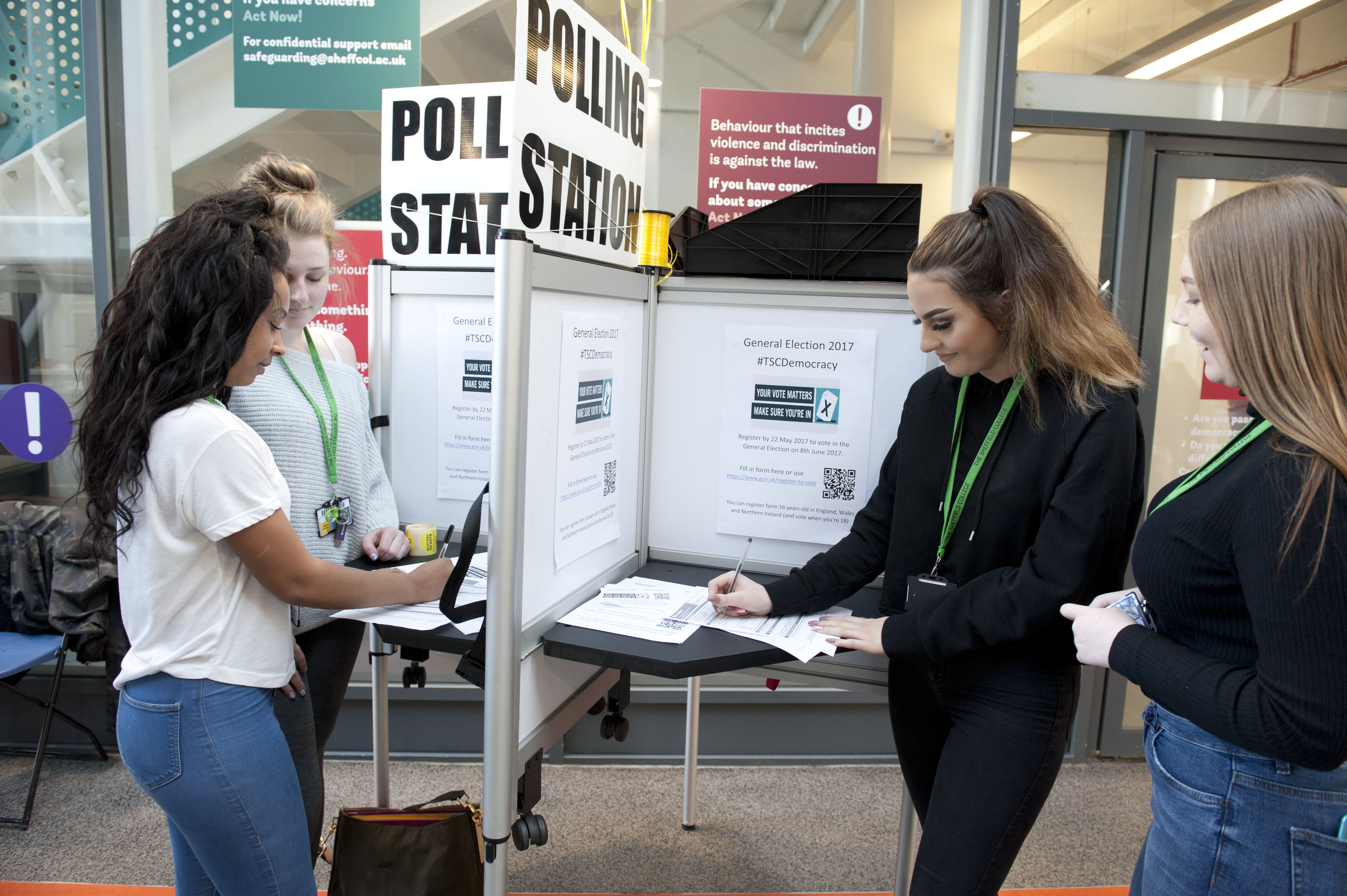 Sheffield College Launches Polling Booths So Students Register To Vote