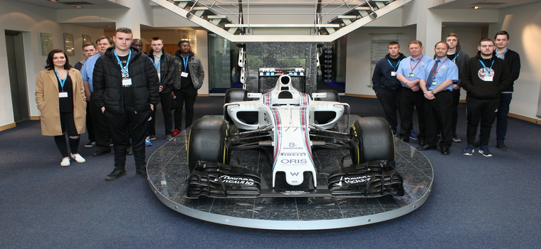 Sheffield College Engineering Students Tour Williams F1 Factory