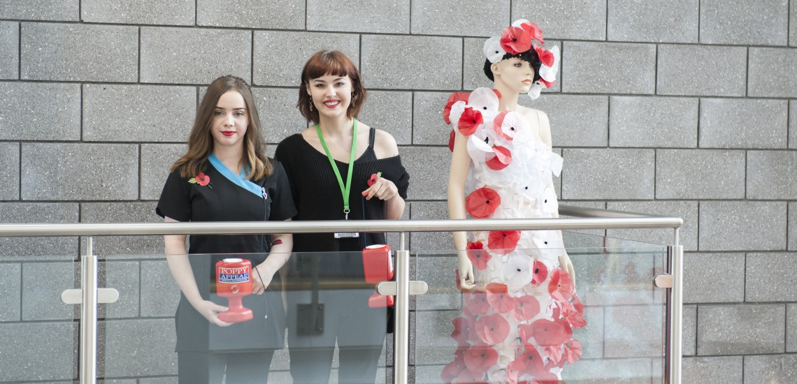 Media Make-Up Students Create Poppy Appeal Dress