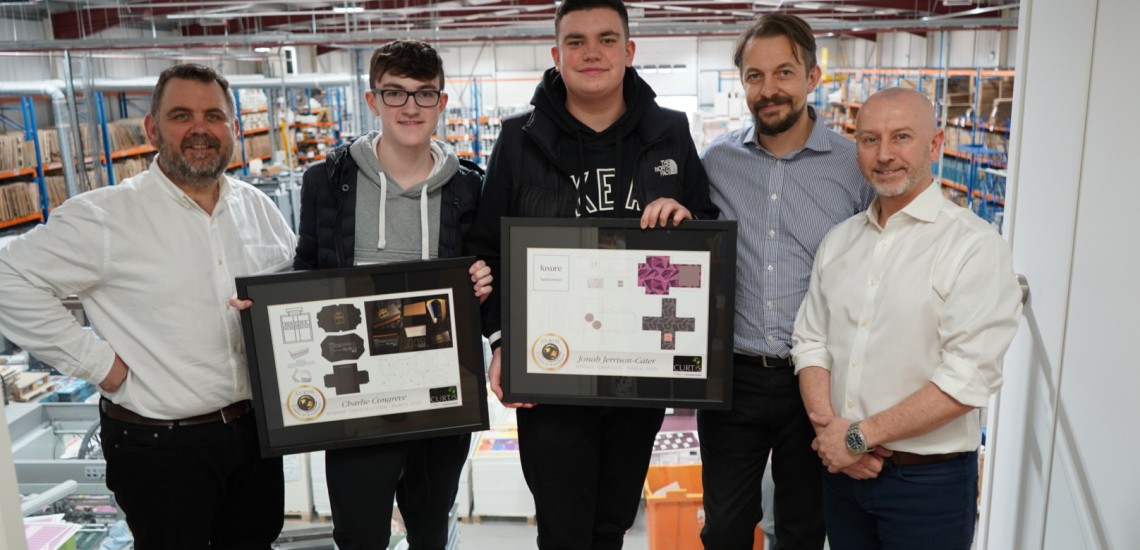 Graphic design students win double first prizes in industry award